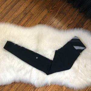 Lululemon Wunder Under Quilt Black Leggings